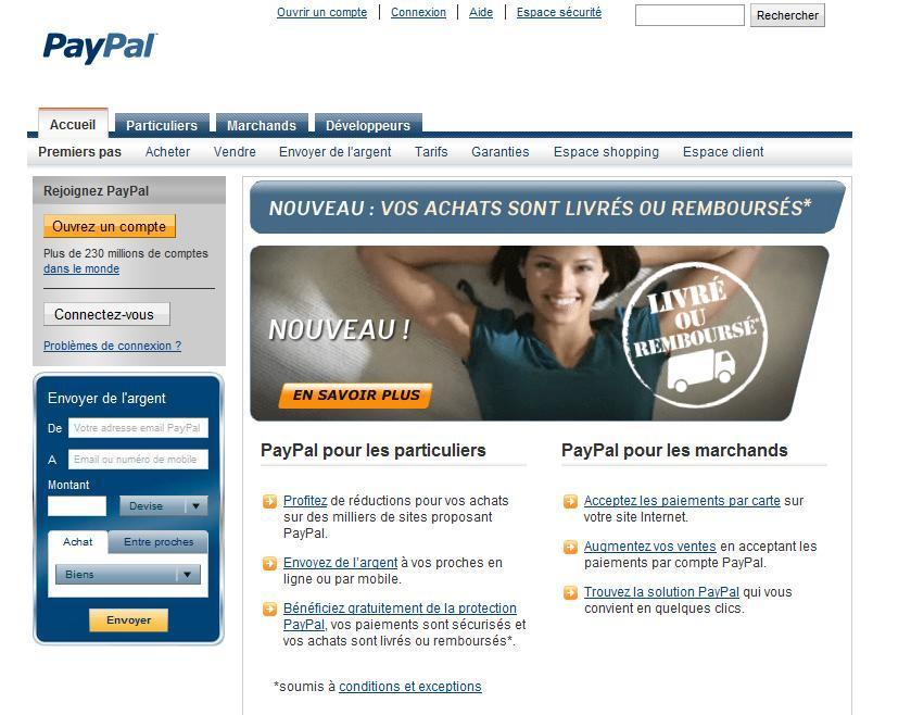 Portefeuille virtuel Paypal