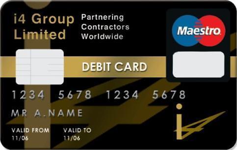 Exemple d'une carte bancaire de débit