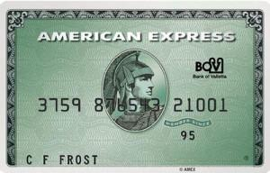 Carte bancaire American Express Green