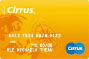 Carte bancaire Cirrus