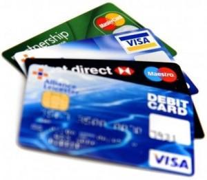 Echantillons de cartes bancaires