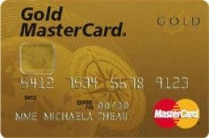 La carte bancaire Mastercard Gold