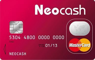 la carte de paiement et de crédit Neocash
